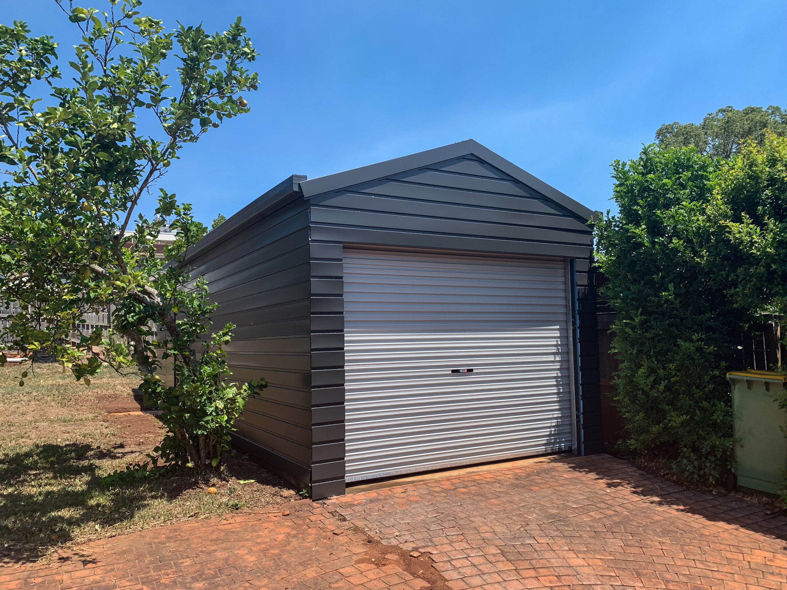 New Shed in a Backyard